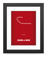 Minimalist Gears of War Poster