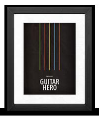 Minimalist Guitar Hero Poster