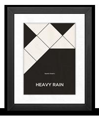 Minimalist Heavy Rain Poster