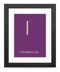 Minimalist Monsters, Inc. Poster