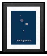 Minimalist Finding Nemo Poster