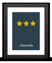 Minimalist Ratatouille Poster