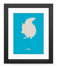 Minimalist Up Poster (Squirrel version)